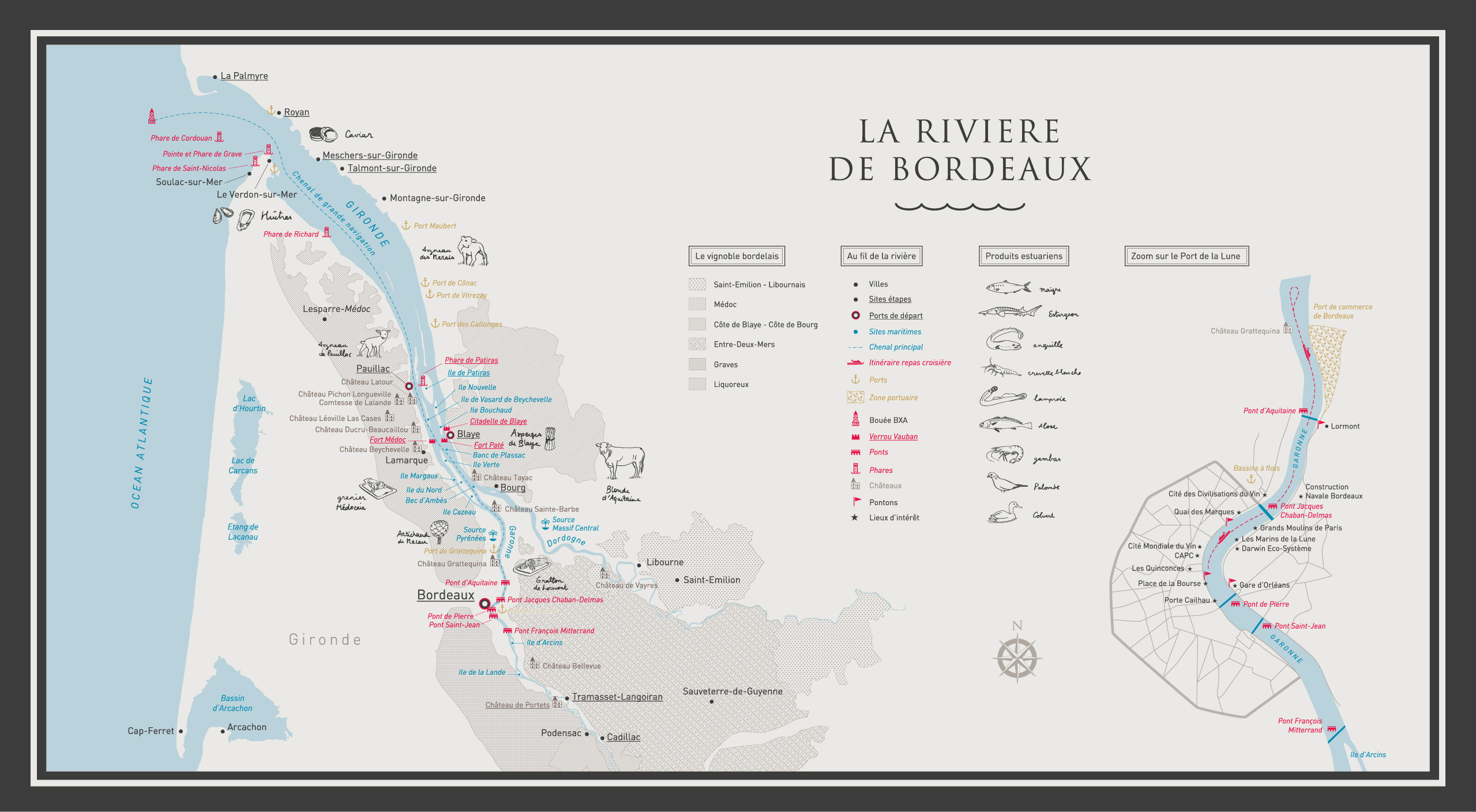map bordeaux estuaire
